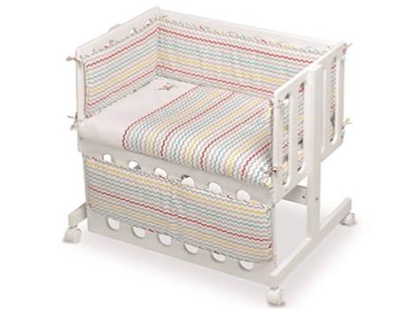 Pirulos 28112320–Minicuna colecho, motivo Espin, 53x 85.5x 80cm, colore: bianco e lino