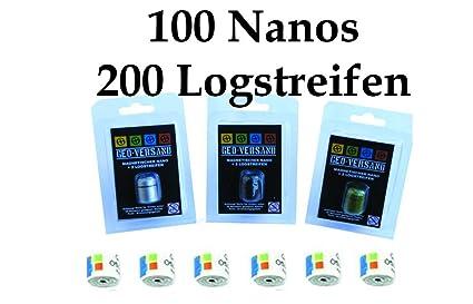 Lot de 100Top offre-Argent-Vert-Noir Magnétique Nano avec 200bandelette Geocaching, Récipient, Boîte, cachette, étanche Micro