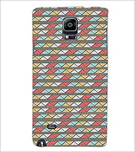 SAMSUNG GALAXY NOTE 4 ZIGZAG PATTERN Designer Back Cover Case By PRINTSWAG