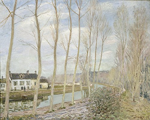 Alfred Sisley - The Loing's Canal - Large - Semi Gloss Print