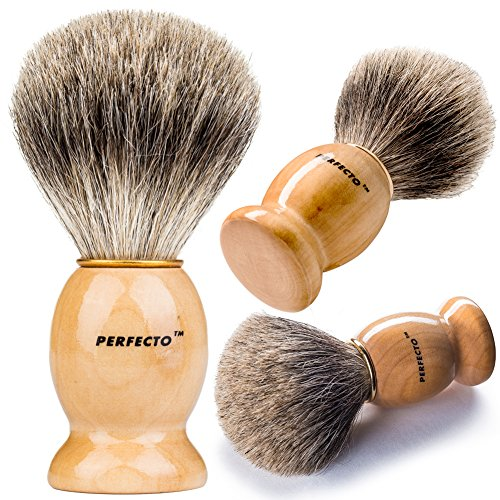 Perfecto 100% Original Pure Badger Shaving Brush. Engineered for the Best Shave of Your Life.For all methods,Safety Razor,Double Edge Razor,Staight Razor or Shaving Razor, Its Best Badger Brush. (Shaving Brush Bowl compare prices)