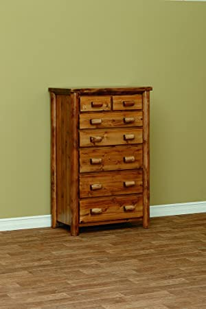 White Cedar Rustic 7 Drawer Chest *Fruitwood*