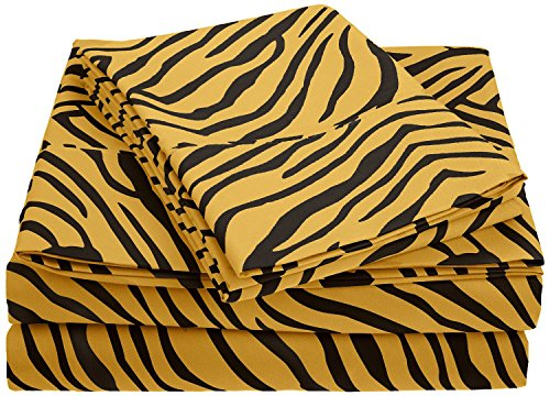 Microfiber 1800 Animal Print Sheet Set - California King - Leopard front-167193