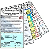 Beatmungs-Karten-Set: bestehend aus: - Beatmung - Grundlagen, Einstellungen & Normwerte; Beatmung - Weaning; Beatmung - Abkürzungen und Normwerte; Blutgase & Differentialdiagnose;