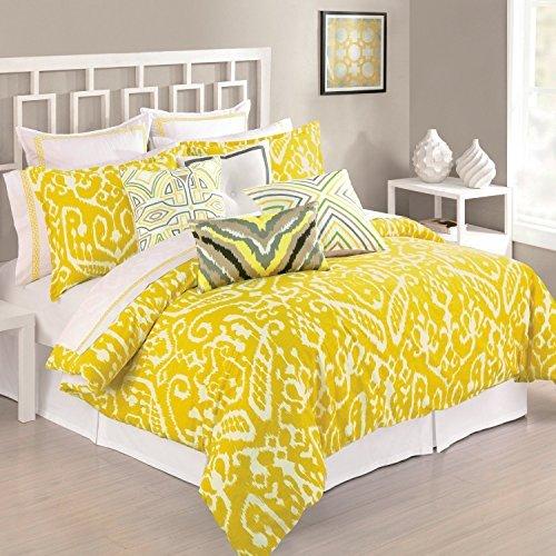 trina-turk-yellow-mustard-ikat-king-duvet-cover-cotton-by-trina-turk
