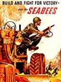 PROPAGANDA WAR WWII USA BUILD FIGHT VICTORY SEABEES SOLDIER ART PRINT BB9334