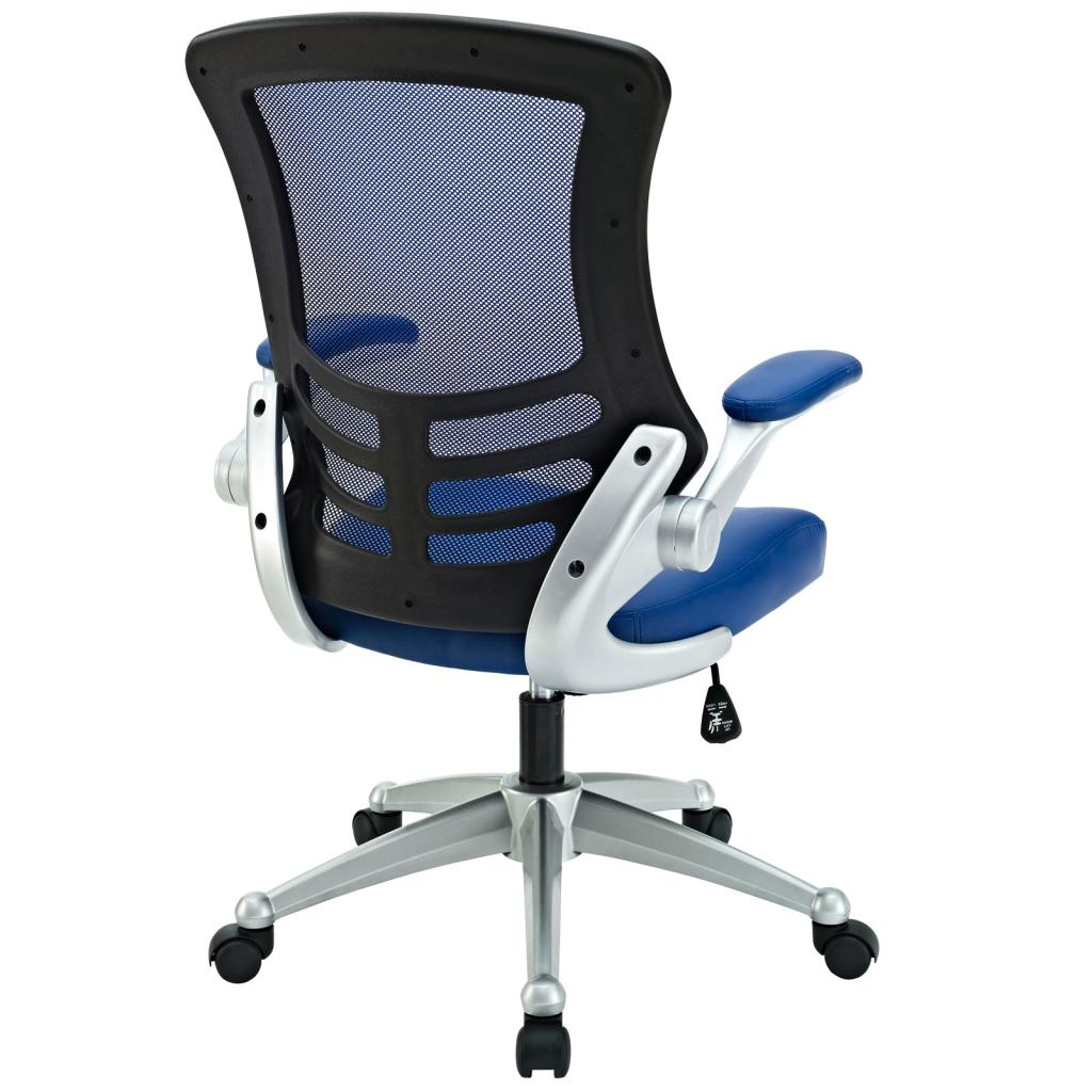 Amazon com lexmod attainment office chair with blue mesh back and