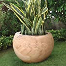 Garden Planter - Polished Rainbow Serenity Stone Plant Pot