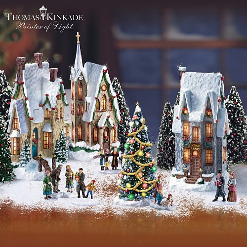 Thomas Kinkade Winter Splendor Christmas Village Set by Hawthorne Village $99.99
