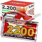 Kraftmax Akku Racing-Pack mit Tamiya Stecker - 9,6V / 2200mAh ( min 2000 mAh ) NiMH Akku / Hochleistungs RC Pack Akkupack