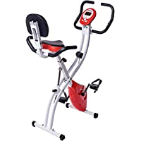 Merax Folding Adjustable Magnetic Upright Exercise Bike