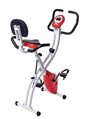 Merax Folding Adjustable Magnetic Upright Exercise Bike (Original: $159.95)