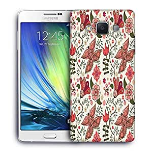 Snoogg Mixed Butterfly Designer Protective Phone Back Case Cover For Samsung Galaxy A7