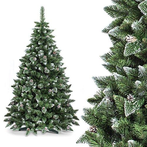 Albero di Natale artificiale PREMIUM -- 180cm NATUR-Bianco