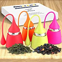 Dimples Excel Delightful Silicone Tea Infuser Set (4 Pack)