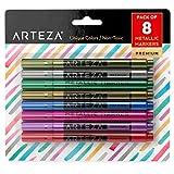 Arteza Wine Glass Metallic Markers - Pens (Set of 8)