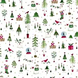 Caspari Wonderland 9-Foot Christmas Wrapping Paper Roll