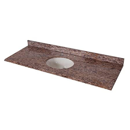 St. Paul 61 in. Stone Effects Vanity Top in Santa Cecilia with White Bowl