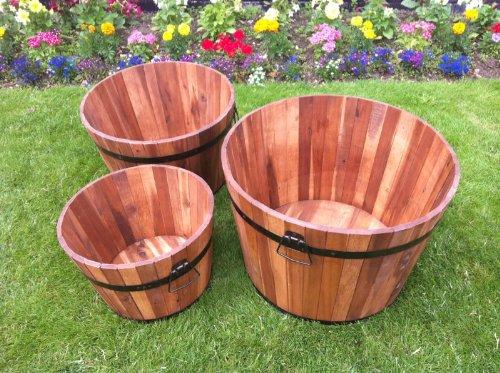 ouse-valley-3-garden-planters-barrel-tubs-patio-deck-acacia-wood-metal-trim-handles