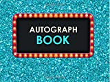 Autograph Book: Blue Celebrity Autograph Book for Adults & Kids, 100 Blank Pages, Keepsake, Memory Book