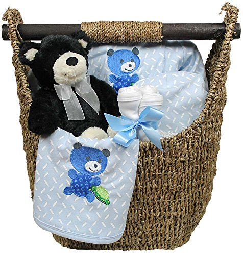 Raindrops Welcome Home 9 Piece Gift Set, Blue, 3-6 Months - 1