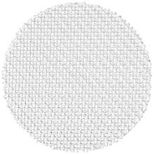 Polypropylene Woven Mesh Disc, Square Openings, White