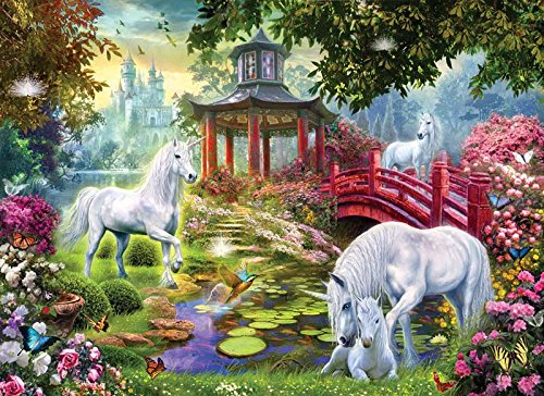 Unicorn Summer House a 500-Piece Jigsaw Puzzle by Sunsout Inc.