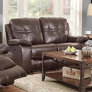 Holloway Motion Leather Loveseat