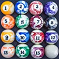 Marbled Pool Table Billiard Ball Set by Felson Billiard Supplies