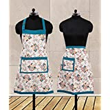 Dekor World Floral Fun Apron Set (Pack Of 2 Pcs)