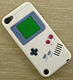 NEW WHITE NINTENDO GAMEBOY RUBBER SKIN CASE FOR APPLE iPOD TOUCH 5 5TH GEN