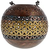 Kapasi Handicrafts Metal Antique Candle Holder (16 Cm X 16 Cm X 16 Cm, Brown)