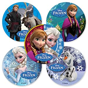 Amazon.com: Disney Frozen Movie Stickers - 75 Per Pack: Toys & Games