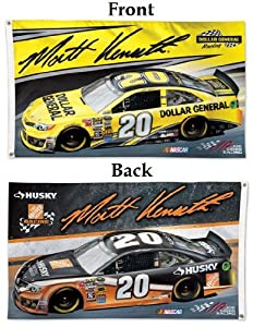 NASCAR #20 Matt Kenseth Flag 3x5 Large Flag 2014 2 Sided Dollar General Race Car and... by WinCraft
