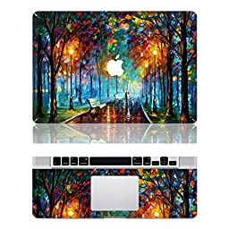 Vati Leaves Removable Love in the Rain Protective Full Cover Vinyl Art Skin Decal Sticker Cover for Apple MacBook Air 11.6\