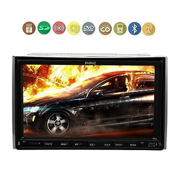 Pupug Double 2 Din 7 pouces voiture lecteur DVD CD MP3 / MP4 šŠcran tactile Video Player En Dash stšŠršŠo RDS Radio Bluetooth Audio šŠcran tactile USB / SD
