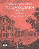 Piano Concertos Nos. 17-22 in Full Score (Dover Music Scores) (0486235998) by Mozart, Wolfgang Amadeus