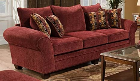 Clearlake Queen Sleeper Sofa in Burgundy