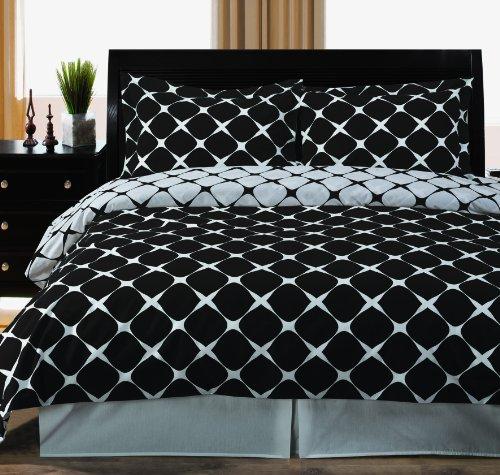 Twin / Twin Xl Bloomingdale 2Pc Duvet Cover Set Black & White front-1022795