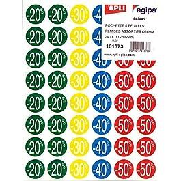 AGIPA paquet de 240 Pastilles remises (-20% à -50%), diamètre 37,5 mm assorties