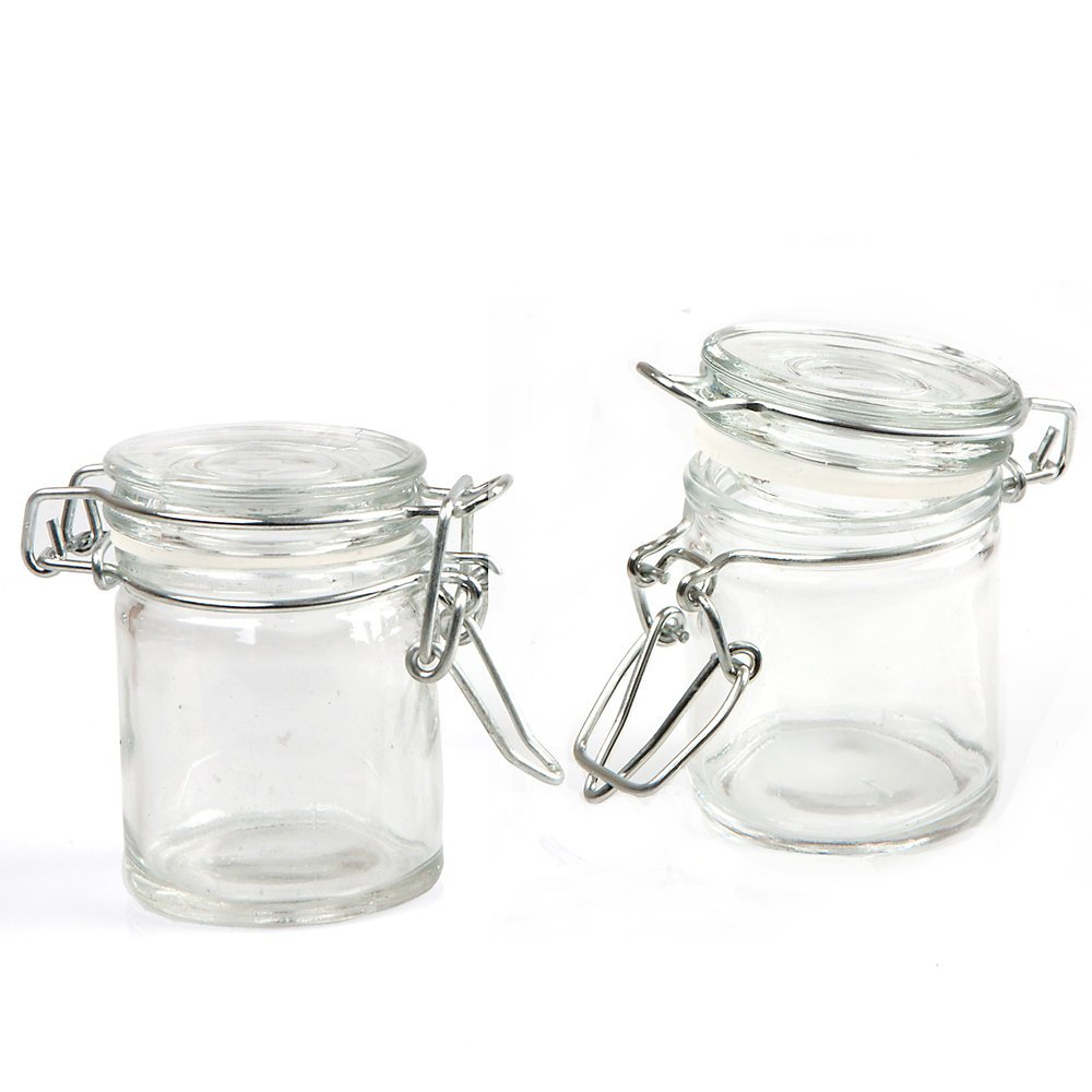 grant howard 306ounce cylindrical clear glass spice jar set of 24 small new free shipping