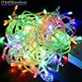 Greenyourlife 20M 66ft 200 Leds Flexible LED Fairy String Lights Waterproof with Control Box for Indoor Outdoor Gardens, Homes, Christmas Wedding Party Decoration - Multi-color +Stylus Dust Plug