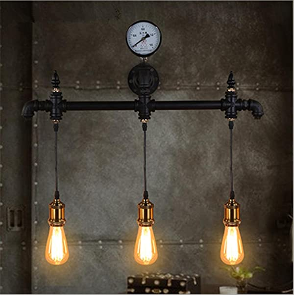 Wall light lamp modern vintage industrial retro loft creative faucet wall light lamp modern vintage industrial retro loft creative faucet rustic iron water pipes wall sconce aloadofball Image collections