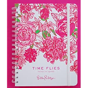 2010 Lilly Pulitizer Time Flies Large Datebook Agenda Planner Roses COLOR BY NUMBERS