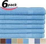 Utopia Cotton Bath Towel 27-Inch x 54-Inch 400GSM, 6-Pack, Marine