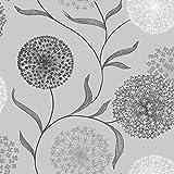 Holden Decor Starburst Wallpaper 10444, Colour - Grey/Black