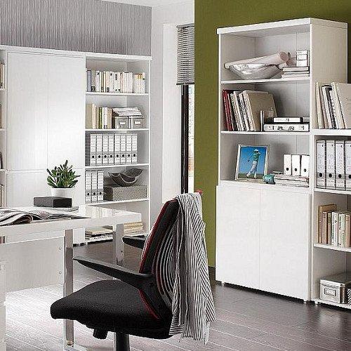 lounge-zone-Design-Broschrank-mit-Regalteil-TARANTO-wei-Hochglanz-2-Tren-H190cm-8401