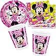 Disney Minnie Mouse Partygeschirr - Partyset Becher Teller Servietten