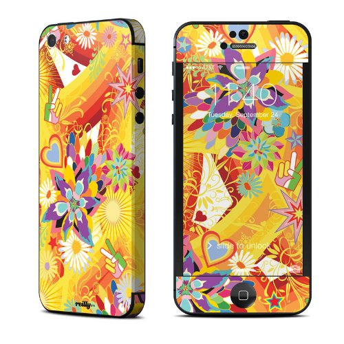 Wall Flower Design Protective Decal Skin Sticker (Matte Satin Coating) For Apple Iphone 5 16Gb 32Gb 64Gb Cell Phone front-1050499