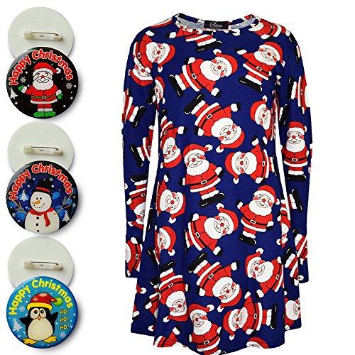 kids-girls-christmas-dress-santa-snowman-penguin-print-xmas-fashion-dresses-new-age-7-8-9-10-11-12-1